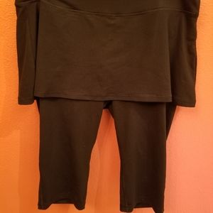 Old Navy Active size 1X black workout skirt capri